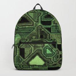 Green circuitry Backpack