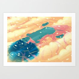 heaven river Art Print