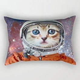 Astronaut Cat 3 Rectangular Pillow