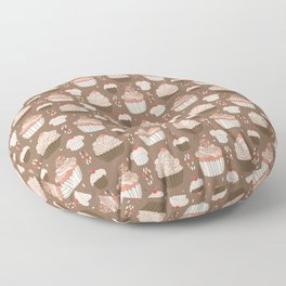 Elegant Cupcakes Food Vector Pattern Seamless Floor Pillow