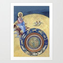 Giusto de' Menabuoi - Creation - Baptistery of the Cathedral of Padua 1377 Art Print