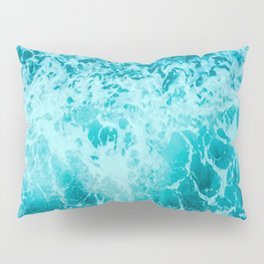 Blue Ocean Waves 2 Pillow Sham
