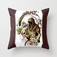 tarot Throw Pillows featuring Death Tarot by A Hymn To Humanity