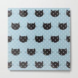 Polka dot cat 3 Metal Print