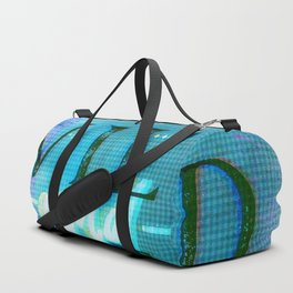 Wild and Free Turquoise Glitch Duffle Bag