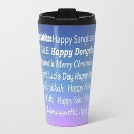 Happy Holidays Sunrise Travel Mug