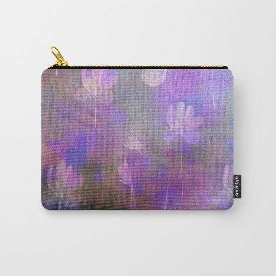 Painterly Dancing Violets Abstract Carry-All Pouch