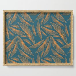 Feathered Leaf Pattern Serving Tray