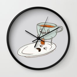 Tea Baggin' Wall Clock