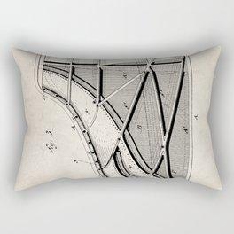 Steinway Piano Patent - Piano Player Art - Antique Rectangular Pillow