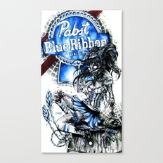 PBR ZOMBIE GIRL Canvas Print