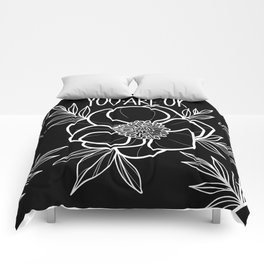 You Are OK Black Comforters