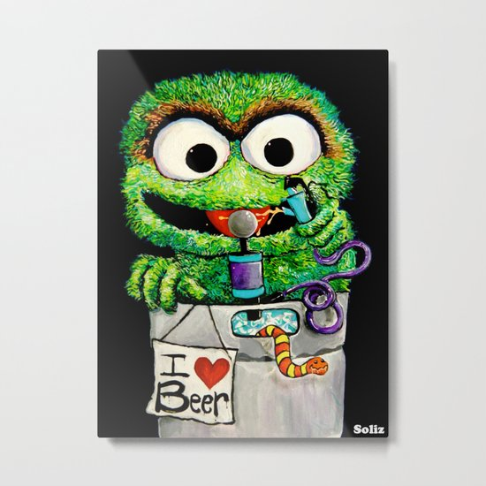 THE GROUCH Metal Print