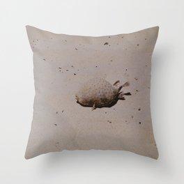 Little puffer Throw Pillow