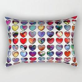 Painted Hearts Rectangular Pillow