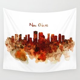 New Orleans watercolor skyline Wall Tapestry