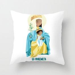 La Moreneta. Virgin of Montserrat Throw Pillow