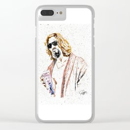 The Dude Abides Clear iPhone Case