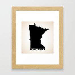 Homosotan  Framed Art Print