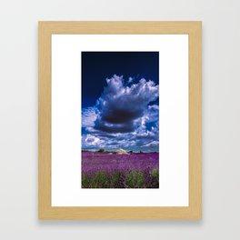 "Beautiful purple landscape with clouds in ""La Provençe, France""! Framed Art Print"