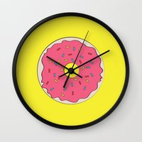 donut Wall Clocks featuring Donut by annika thorn