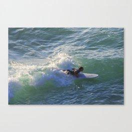 Surfer Chapple Porth Cornwall Canvas Print