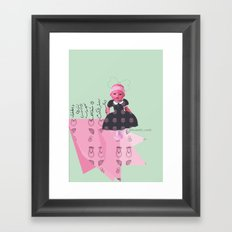 baby born Framed Art Print