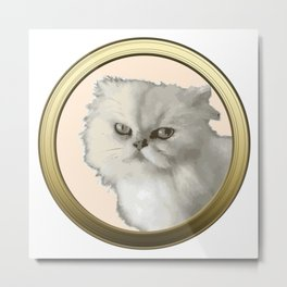Cute Kitty Cat Metal Print