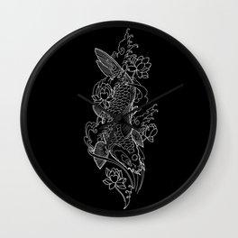 Koi Fish 1 Wall Clock