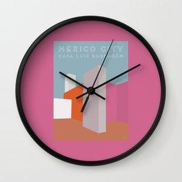 Mexico City, Casa Luis Barragán Travel Poster Wall Clock