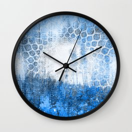 Cobalt Dreams Wall Clock