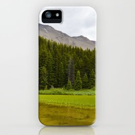 Views along the Wilcox Pass Hike in Jasper National Park, Canada iPhone Case