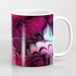 Psychedelic Waves (amaranth) Coffee Mug