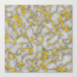 Marble and Gold Luxury Foil Canvas Print