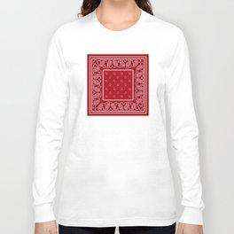 Classic Red Bandana Long Sleeve T-shirt