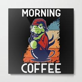 Morning Frog Metal Print