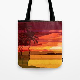 Tropical Glitchset Tote Bag
