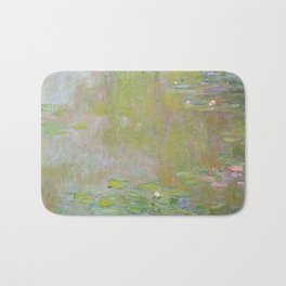 Water Lily Pond by Claude Monet Bath Mat