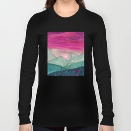 Lines in the mountains XIV Long Sleeve T-shirt