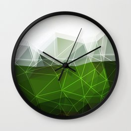 Green abstract background Wall Clock