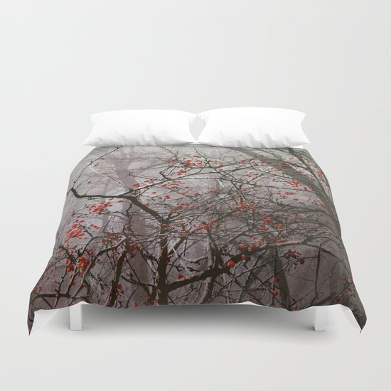 Forest of Red Duvet Cover