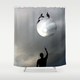 The Magpies Shower Curtain
