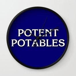 Potent Potables Wall Clock