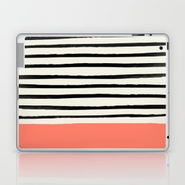 Coral x Stripes Laptop & iPad Skin