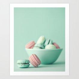 Nostalgic macarons, macaroons Art Print