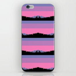 Abstract mountains horizons iPhone Skin