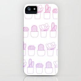 Succulents (Pink Gradient) iPhone Case