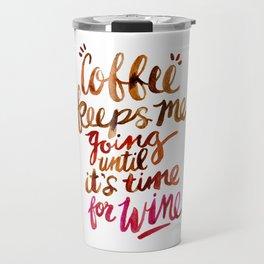 Coffee & Wine – Brown & Magenta Ombré Travel Mug