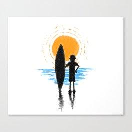 Surf Ocean Sunset - SOS Canvas Print