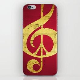 Music & Peace Sheet Music iPhone Skin